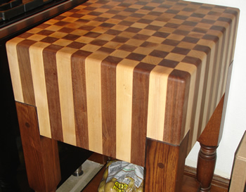Butcherblock Checker Wood Tops