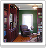 Custom Library Cabinetry