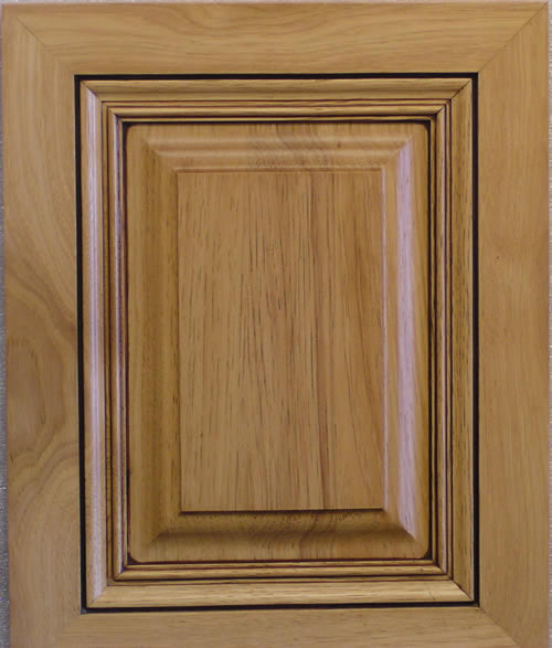 Mitered Raised Panel 45 Cabinet Door Hickory