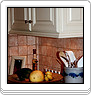 Painted Kitchen With Tile Tops