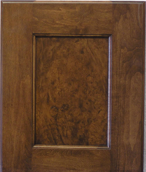 Recessed Panel Cabinet Door with Burled Maple Panel