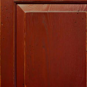 Wormy Chestnut Cabinet Door Painted with Windy Way